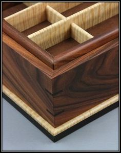 Bolivian Rosewood & Curly Maple Jewelry Box - Boxes, trunks, chests etc. Woodworking Keepsake Box, Woodworking Workshop Plans, Woodworking Furniture Plans, Woodworking Box, Woodworking Classes, Woodworking Machinery, Woodworking Projects, Workbench Plans, Custom Woodworking