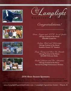 Lamplight Equestrian Center   Congratulations