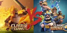 Clash Royale Vs Clash of Clans - Find which is a better game! Clash Royale & Clash of Clans difference. Clash Royale, Gemas Clash Of Clans, Barbarian King, Boom Beach, Rasheeda, Free Gems, Dragon Ball Gt, Mario Bros, Best Games