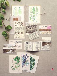 botanical invitations