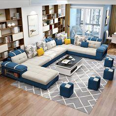 Living Room Sets, Bedroom Sets, Living Room Furniture, Living Spaces, Beige Sectional, Tufted Sectional, Modern Couch, Modern Sectional, Modern Living
