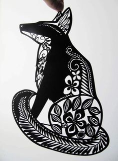 The Delicate Cutter Emily Hogarth paper cutting The post The Delicate Cutter appeared first on Paper Diy. Paper Art, Paper Crafts, Paper Cutting Templates, Paper Cut Design, Fox Print, Animal Silhouette, Kirigami, Art Tutorials, Light In The Dark