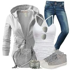 Luvin this chill mode outfit to cute! Look Fashion, Fashion Outfits, Womens Fashion, Fashion Trends, Fashion Ideas, White Fashion, Ladies Fashion, Fashion Styles, Street Fashion