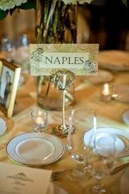 Instead of table numbers, why not name the table after your favourite destinations or the places you've gone to as a couple? Or even fairytale places!