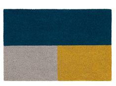 Elkan Doormat 45 x Blue and Yellow Hallway Rug, Home Accessories, Yellow, Blue, Rugs, Doormats, Conservatory, Iphone Wallpapers, Home Decor