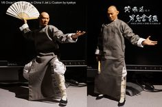 "Custom made Jet Li Wong Fei-hung figure by ""kyekye"" of the One Sixth Warrior forum"