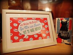 Designed By Vikki Anne Framed Wall Art Picture - We Make Mistakes -Speech Bubble