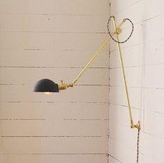 Industrial Brass Scissor Lamp  Industrial Pharmacy