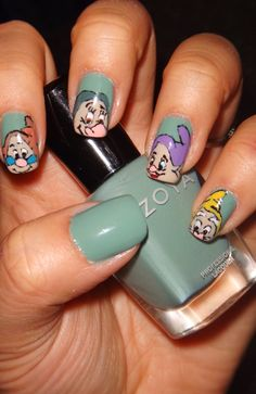 Snow White and the seven dwarfs ~ Doc/Bashful/Dopey/Happy Nails