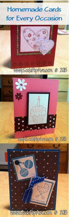 Check out these homemade cards for every occasion by Soda Pop Ave.  www.SodaPopAve.com