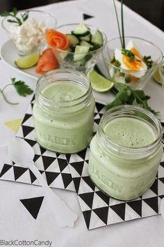 BlackCottonCandy: cold cucumber buttermilk soup