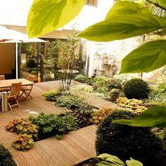 Opus Paysage . Paysagiste au service de vos Jardins et Terrasses . Jardins et terrasses . Aménagement d'un jardin ombragé à Paris