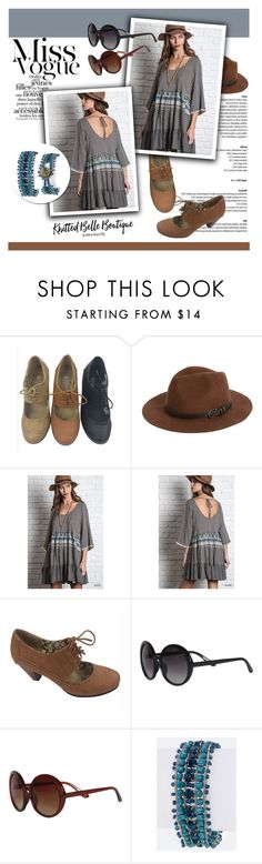 Miss Vogue/Knitted Belle Boutique by helenevlacho on Polyvore featuring Umgee, VERONA, Trio Eyewear, Sole Society, knittedbelleboutique and #knittedbelle