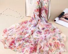 Luxusná veľká šatka z umelého hodvábu 180 x 140 cm _ model 101 Blouse, Model, Tops, Fashion, Blouse Band, Moda, La Mode
