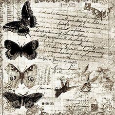 Printing Ideas Useful Info: 3158652253 Decoupage Vintage, Vintage Paper, Vintage Butterfly, Butterfly Art, Butterflies, Vintage Labels, Vintage Ephemera, Paper Background, Background Vintage