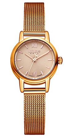 JULIUS JA887 Female Womens Brown Quartz Analog Mesh Stainless Steel Waterproof Fashion Watch -- You can find out more details at the link of the image. (Note:Amazon affiliate link)