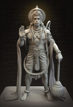 Vijayanjaneya Statue, Harshal Battin on ArtStation at https://www.artstation.com/artwork/9Z3Eo