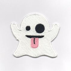 4dd6dcd0758 GHOST Embroidered iron on  stitch on Patch ~ Shipping 50p approx 6.5cm x 7.5