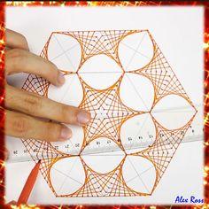 Easy Drawings, Art Drawings Sketches Simple, Pencil Art Drawings, Geometric Art, Geometric Drawing, 3d Art Drawing, Drawing Tips, Line Drawing, Carillons Diy
