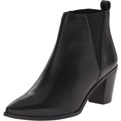 Dune London Women's Preslee Chelsea Boot ($110) ❤ liked on Polyvore featuring shoes, boots, ankle booties, pointed toe boots, pointed toe booties, chelsea boots, pointy toe boots et pull on boots