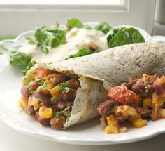 These vegan bean burritos are not only delicious but also completely healthy, made without any oil, dairy or processed ingredients.