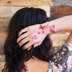Coral Butterflies > Temporary Tattoo by Tattly