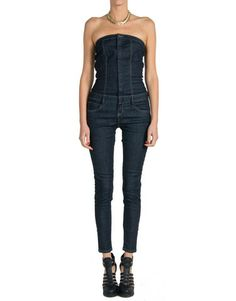 Strapless Denim Jumper | 2020AVE; I wish I were tall enough to pull off this look!