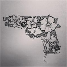 flower gun tattoo