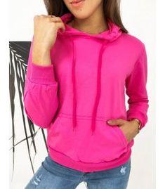 Fuksiová dámska mikina Modivos Dog Walking, Jogging, Color Fuchsia, Sporty, Sweatshirts, Composition, Cotton, Jackets, Base