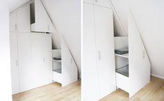 ZOLDERKAST   opgeruimd   ruimtelijk meubel   slaapkamer   bergruimte   Utrecht   via www.weberontwerpt.nl