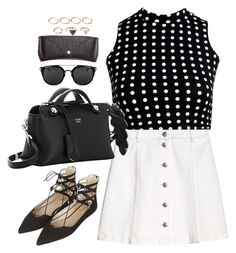 """""""Untitled#4214"""" by fashionnfacts ❤ liked on Polyvore featuring Boohoo, Fendi, Topshop, H&M and Forever 21"""