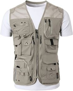 Designer Clothes, Shoes & Bags for Women Outdoor Vest, Outdoor Outfit, Work Casual, Men Casual, Safari Vest, Military Fashion, Mens Fashion, Cargo Work Pants, Camping Outfits
