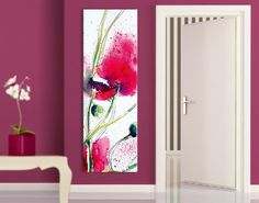 Fancy Leinwandbild Painted Poppies Schmal Leinwandbild blume natur