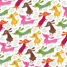 Weiner Puppies! Wud loove to have this fabric for a quilt!