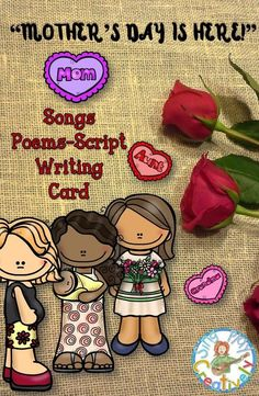 Celebrate Mother's day through songs, poems, script and card writing activity. https://www.teacherspayteachers.com/Product/MOTHERS-DAY-SONGS-POEMS-SCRIPT-CARD-INVITES-WRITING-ACTIVITIES-1828889 #iteachmusic #elementaryeducation #tptteacher #teachersfollowteachers