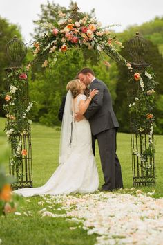 Floral Ceremony Arch | Amanda Suanne Photography | Bridal Musings Wedding Blog