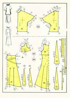 Яндекс.Фотки Dot Patterns, Vogue Sewing Patterns, Vintage Sewing Patterns, Clothing Patterns, Dress Patterns, Crochet Barbie Clothes, Sewing Clothes, Bodice Pattern, Couture Sewing