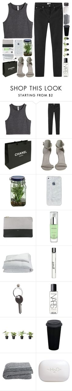 """""""//we found ourselves some treasure/and we threw it all away/what you're waiting for?//"""" by vanilla-chai-tea ❤ liked on Polyvore featuring H&M, Acne Studios, Chanel, Alöe, CÉLINE, Gatineau, Frette, philosophy, Maison Margiela and NARS Cosmetics"""