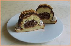 Dômes chocolat-vanille façon rocher.   { sans sucre ajouté, sans lactose, sans gluten, allégé en matières grasses }