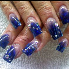 Real Feather Acrylics Nails by Celeste Young