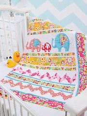 Baby & Kids Wall Quilt Patterns - Elephant Walk Quilt Pattern, Winter 2013 Quilters World Mag