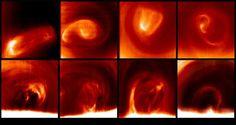 El vórtice polar de Venus se mueve de forma impredecible