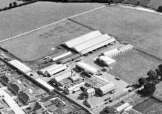 Hazelbrook Farm & Dairy, Rathfarnham, Dublin, 1952, where the company, Hughes Brothers, (HB), was founded in 1926 by James, George, and William Hughes Hughes Brothers, William Hughes, Old Factory, Factories, Dublin, Old Photos, Ireland, Dairy, Milk