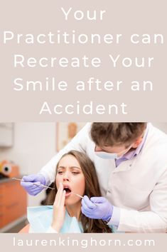How to Recreate Your Smile After an Accident | Lauren Kinghorn  If you have been involved in an accident that has resulted in tooth damage, it is important to seek dental advice as soon as possible. Here are your options.   #dentistry #dentalcare #recreateyoursmileafteranaccident