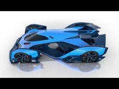 Bugatti Vision Le Mans Concept SuperCar Slices Air Like a Knife Game Icon Design, Electric Truck, Automotive Industry, Le Mans, Bugatti, Concept Cars, Super Cars, Youtube, Art