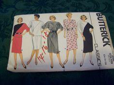 Vintage 1980's Butterick Dress Pattern 3460 sizes 14-16-18 by vintagecitypast on Etsy