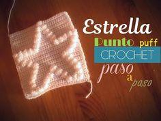 PUNTO CORAZÓN PUFF a crochet - cuadro 20 manta FREESTYLE (diestro) - YouTube Drink Sleeves, Pattern, Youtube, Crochet Carpet, Star, Tricot, Easy Crochet, Tutorial Crochet, Fleece Baby Blankets