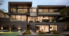 Toronto residence is beautiful award winning modern mansion with gorgeous garden and landscape designed for luxury lifestyle.