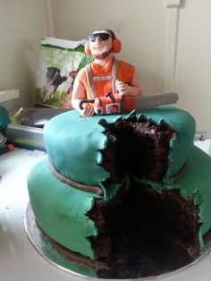 My version of chainsaw cake