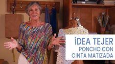 Idea Tejer poncho con cinta matizada, original y elegante 💡Lucila - YouTube Crochet Poncho Patterns, Knitted Poncho, Crochet Shawl, Knitting Patterns, Knit Crochet, Crochet Sandals, Poncho Tops, Chevron Quilt, How To Purl Knit